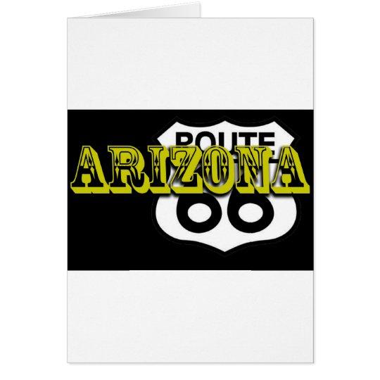 ¡Personalizar amarillo de la ruta 66 de Arizona es Tarjeta De Felicitación