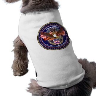 Personalizar americano patriótico playera sin mangas para perro