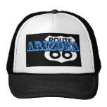 ¡Personalizar azul de la ruta 66 de Arizona él! Gorras De Camionero