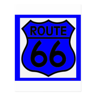 ¡Personalizar azul de la ruta 66 él! Tarjeta Postal
