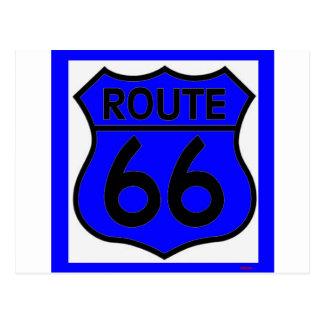 ¡Personalizar azul de la ruta 66 él! Postal