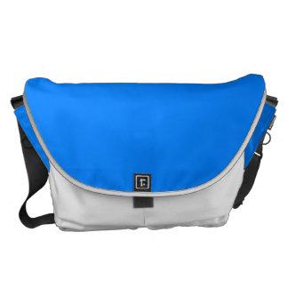 Personalizar azul del color sólido él bolsas messenger