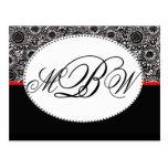 Personalizar blanco y negro del damasco su propio  tarjeta postal