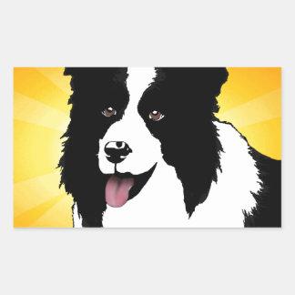 Personalizar brillante del mascota del arte pop rectangular pegatinas