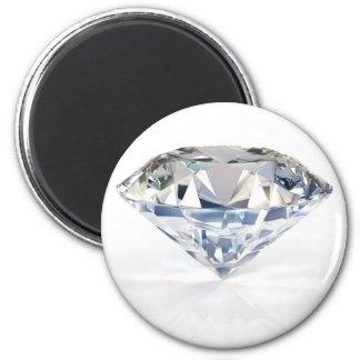 Personalizar brillante enorme del diamante con su  imán redondo 5 cm