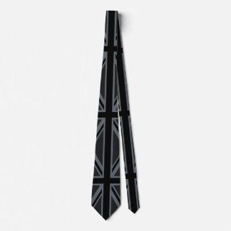 Personalizar británico negro del diseño de la corbatas personalizadas