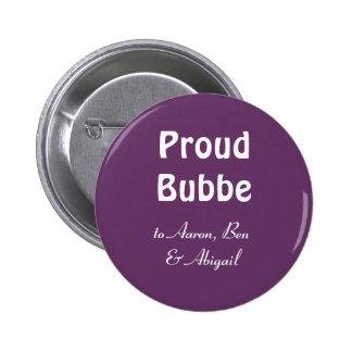 ¡Personalizar!  Bubbe orgulloso Pin Redondo 5 Cm
