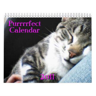 ¡PERSONALIZAR! Calendario de 2011 gatos y de los g