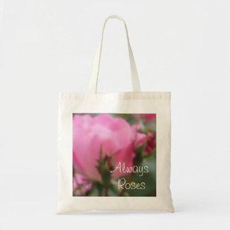 Personalizar color de rosa Knockout del bolso de P Bolsa Tela Barata