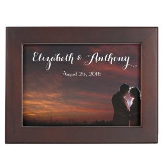 Personalizar con casarse de las fotos caja de recuerdos