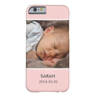 Personalizar con su foto del bebé del chica - funda para iPhone 6 barely there