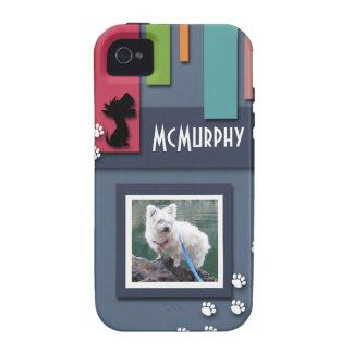 Personalizar con su foto del perro - mojón Terrier iPhone 4/4S Fundas
