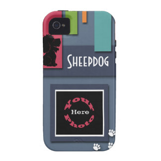 Personalizar con su foto del perro - perro pastor iPhone 4 carcasas