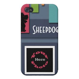 Personalizar con su foto del perro - perro pastor iPhone 4/4S carcasa