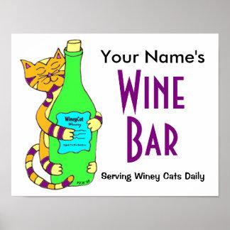 Personalizar con su poster conocido del bar de