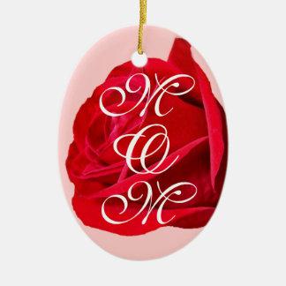 Personalizar de cerámica del ornamento del rosa adorno ovalado de cerámica