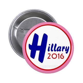 ¡Personalizar de Hillary 2016 él! por Pin Redondo De 2 Pulgadas