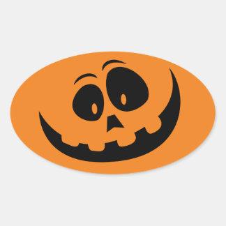 Personalizar de Jack-o feliz' - calabaza de la Pegatina Ovalada