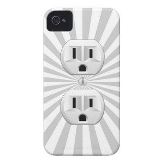 ¡Personalizar de la diversión del enchufe de pared Carcasa Para iPhone 4
