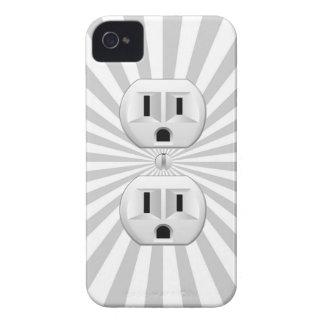¡Personalizar de la diversión del enchufe de pared Funda Para iPhone 4 De Case-Mate