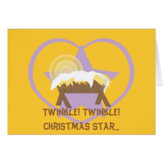Personalizar de la estrella del navidad del tarjeta de felicitación