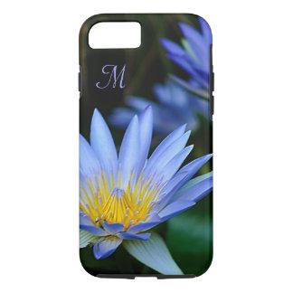 Personalizar de la flor de loto azul funda iPhone 7