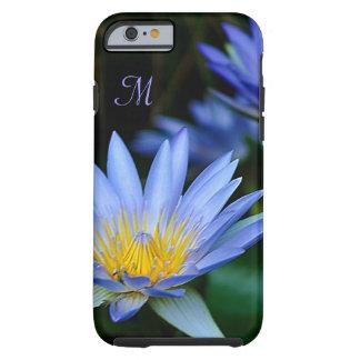 Personalizar de la flor de loto azul funda resistente iPhone 6