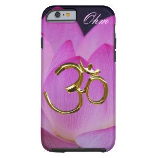 Personalizar de la flor de loto del ohmio funda de iPhone 6 tough