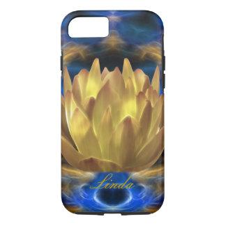 Personalizar de la flor de loto del oro funda iPhone 7
