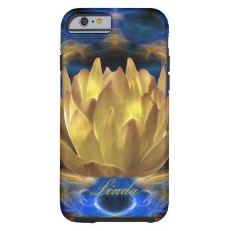 Personalizar de la flor de loto del oro funda resistente iPhone 6
