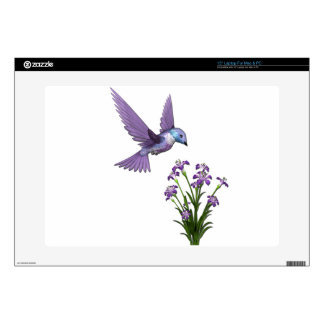 Personalizar de la flor del pájaro del tarareo calcomanía para 38,1cm portátil