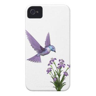 Personalizar de la flor del pájaro del tarareo iPhone 4 Case-Mate cobertura