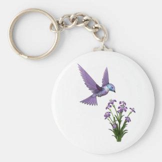 Personalizar de la flor del pájaro del tarareo llavero personalizado