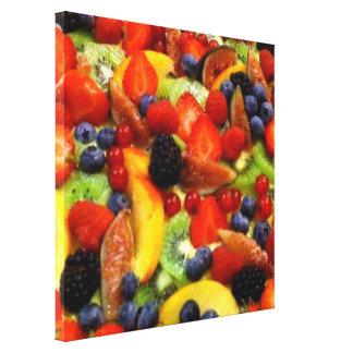 Personalizar de la plantilla de la fruta a propio  impresiones en lona