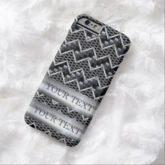 PERSONALIZAR DE LA PLANTILLA DEL CARBONO DEL METAL FUNDA PARA iPhone 6 BARELY THERE