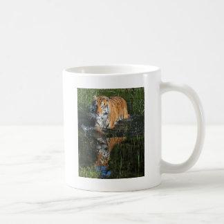 personalizar de la reflexión del agua del tigre taza de café