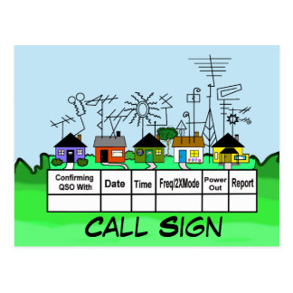 ¡Personalizar de la tarjeta de la calle QSL del Postal