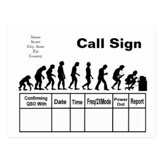 ¡Personalizar de la tarjeta de la evolución QSL Postal