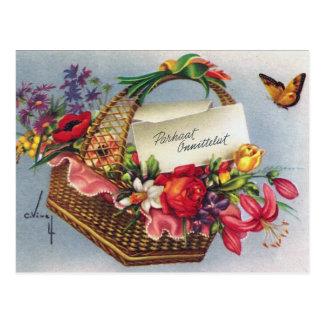 Personalizar de la tarjeta de la flor del vintage  postales