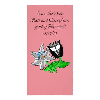 Personalizar de la tarjeta de la foto del boda del tarjeta fotográfica personalizada