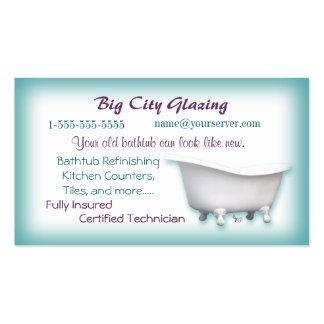 Personalizar de la tarjeta de visita de la bañera