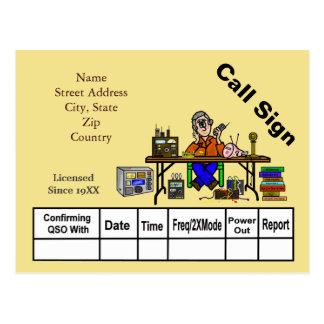 ¡Personalizar de la tarjeta del vendedor QSL de Postal