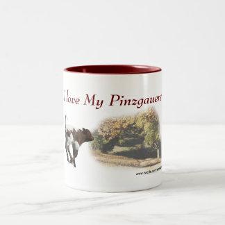 Personalizar de la taza del becerro de Pinzgauer