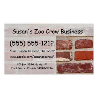 Personalizar de la textura del ladrillo de la pare tarjetas de negocios
