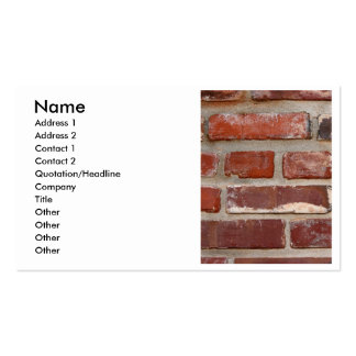 Personalizar de la textura del ladrillo de la pare tarjeta personal
