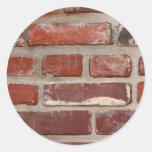 Personalizar de la textura del ladrillo de la pegatina redonda