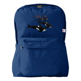 Personalizar de los bolsos de escuela de la orca mochila