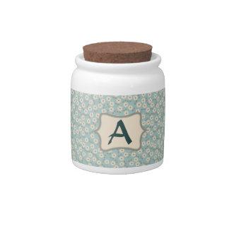 Personalizar de marfil del modelo de flores del jarra para caramelo