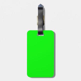 ¡Personalizar de neón verde del color de Fluo esto Etiquetas De Equipaje