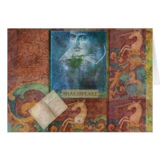 Personalizar del arte de Shakespeare con la cita Tarjeta De Felicitación